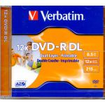 VERBATIM DVD - R 8.5GB DUAL LAYER FULL INK PRINTABLE 12x. code 43698