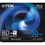 TDK BLU RAY DUAL LAYER, 50GB, 1-6x, DURABIS HARD COATING