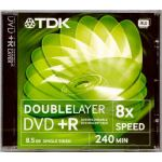 TDK 8.5GB +R 8x DOUBLE LAYER SINGLE SIDED DVD COMPUTER DATA SECURITY MEDICAL CD/DVD SUPPLIES