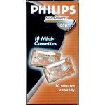 PHILIPS MINI DICTATION CASSETTE. SOLD SINGLY. 30 MINUTES CAPACITY.