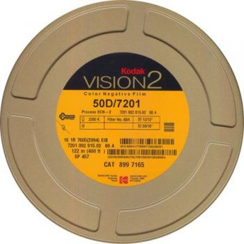 KODAK 16MM VISION2 50D 400' PROFESSIONAL MOTION PICTURE PHOTOGRAPHIC